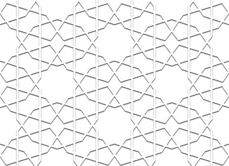 oriental seamless geometrical islamic pattern or arabesque Vector