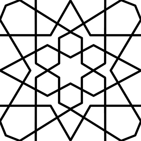 geometrical pattern: seamless arabic geometrical pattern