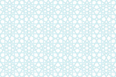 seamless arabic geometrical cyan background