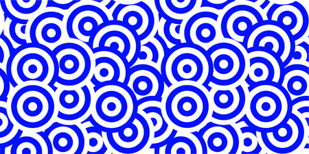 waves pattern: seamless wide abstract blue round waves pattern background