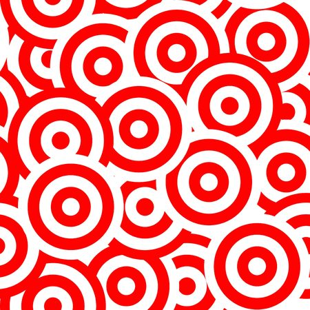 waves pattern: seamless abstract red round waves pattern background