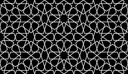 reticular: traditional islamic black HD wallpaer