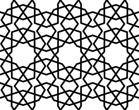 reticular: seamless geometrical arabic pattern Illustration