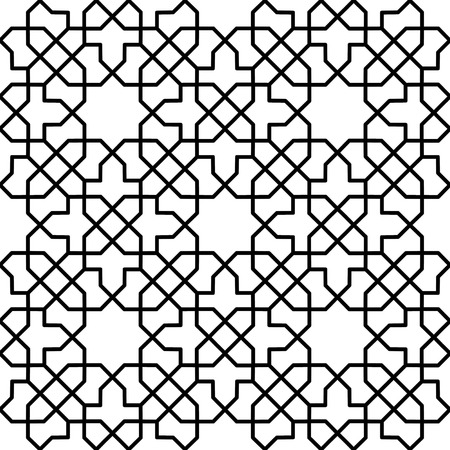 reticular: seamless persian geometrical texture for decoration