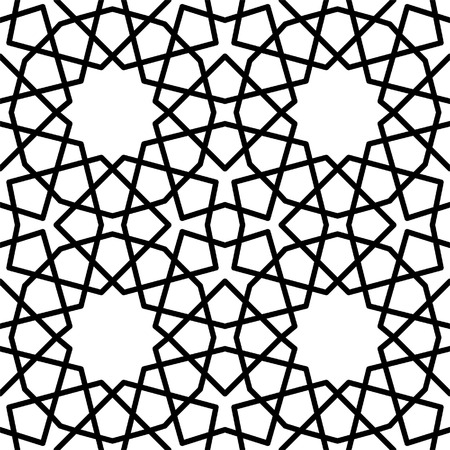 reticular: seamless persian islamic geometrical texture or background Illustration