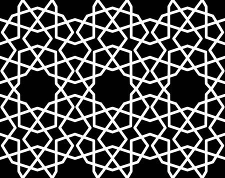 papier peint noir: seamless g�om�trique arabique papier peint noir