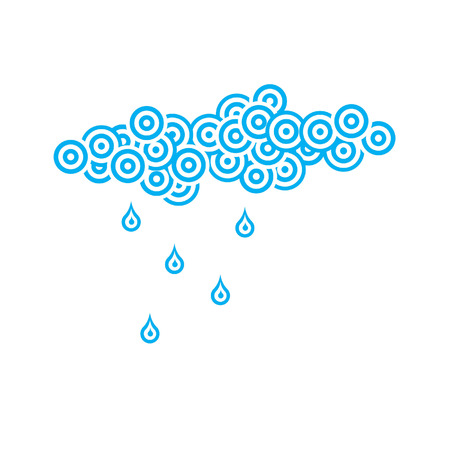 raining: an abstract sky is raining by circles and droplets illustration