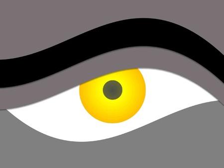 eyebrow: yellow abstract eye and eyebrow vector for desktop background