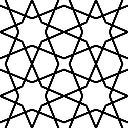 reticular: seamless traditional islamic pattern Illustration