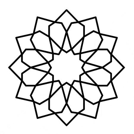 blumen verzierung: Islamisches geometrisches Blumenverzierung