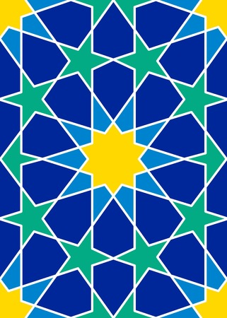 reticular: seamless traditional islamic pattern tile