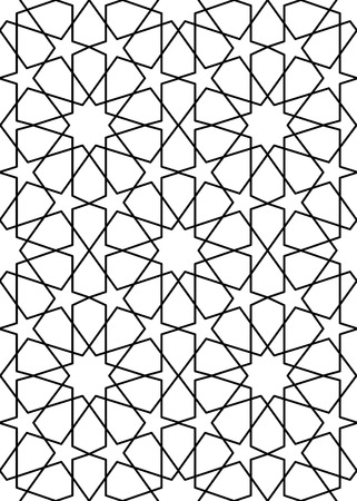 reticular: seamless arabic background