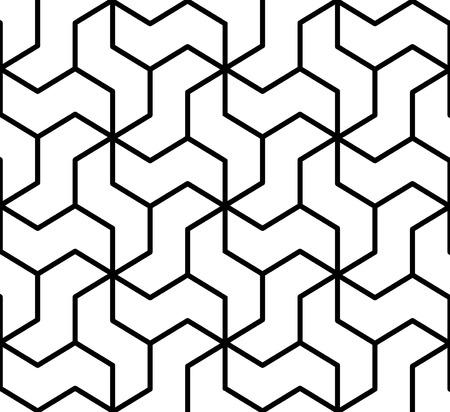 シームレスな幾何学模様  イラスト・ベクター素材