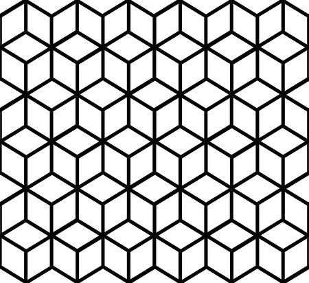 3d geometric patterns by cubes