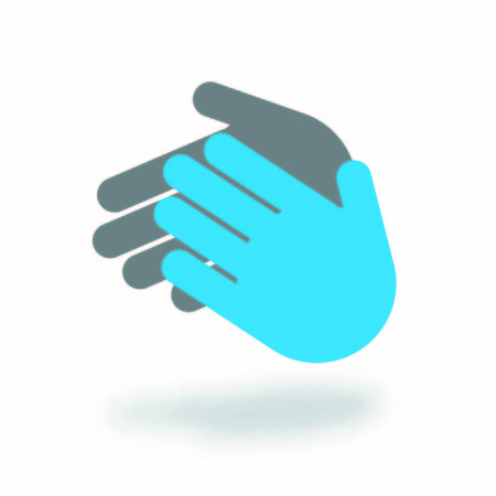 clap: clap vector in two colour hands