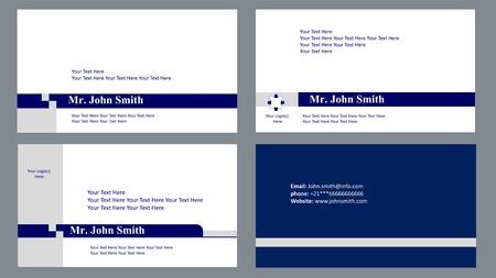 dark blue: simple officcial visit card in dark blue