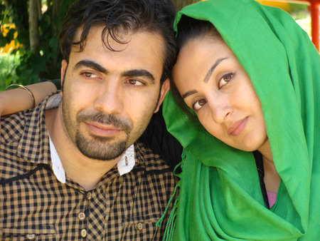 oriental persian young couple