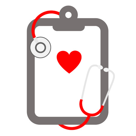 imperil: red stethoscope and clipboard