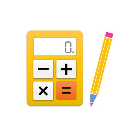 profitable: simple calculator and pen icon