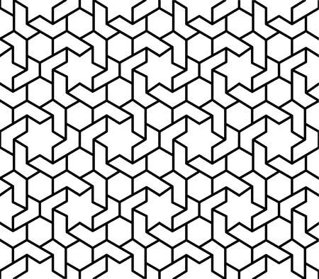 black and white islamic geometric pattern background