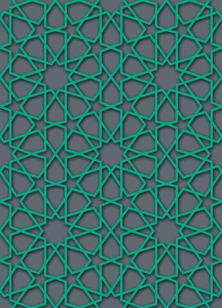 islamic pattern: green islamic pattern