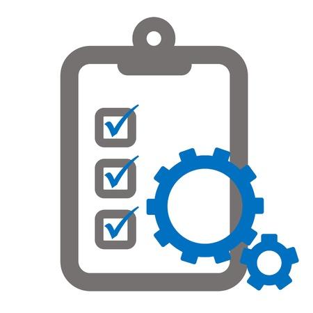 Zwischenablage und Verzahnung Zahnräder, die Umfrage oder Bewertungssystem