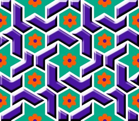 beveled: beveled geometric tile
