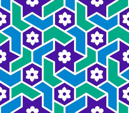 reticular: seamless geometric design Illustration