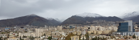 uptown: panorama view of tehran city capital of iran Stock Photo