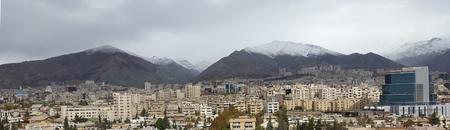 panorama view: panorama view of tehran city capital of iran Stock Photo