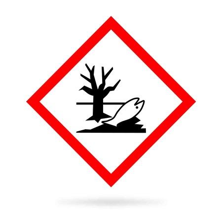 Umweltgefahr Zeichen oder ökotoxikologischen einen toten Fisch und sear Baum zeigt