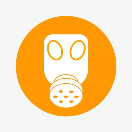 personal protective equipment: gas mask icon or occupational respirator