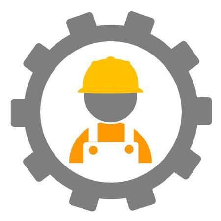 apparel part: cogwheels and worker