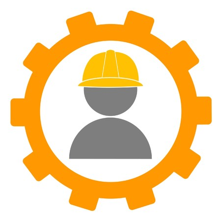 construction helmet: gear and worker icon or logo