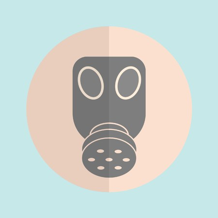 protective eyewear: gas mask icon mid colour
