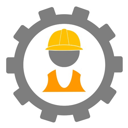 apparel part: construction worker and gear Illustration