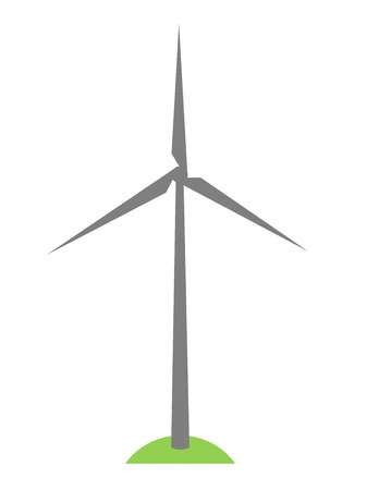 simplewind turbine symbol on green grass