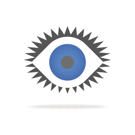 look: simple abstract eye symbolizing scout and and look out