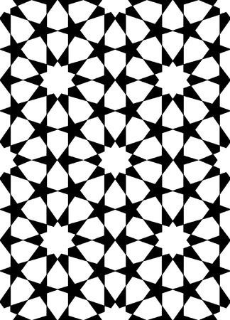 nahtlose orientalischen Muster in schwarz und weiß