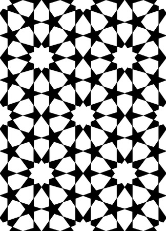 seamless oriental pattern in black and white