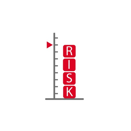 risk assessment concept symbolizing with scale in flat style