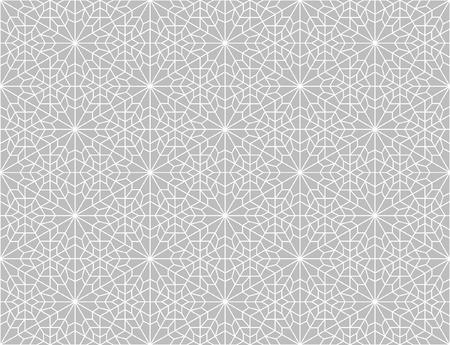traditionellen geometrischen Hintergrund in Grau und Weiß Illustration