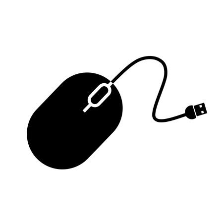 schwarz Computermaus  Illustration