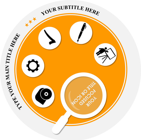 modernCD oder DVD-Label Template-Design in Orange
