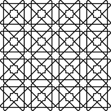 geometrisches Muster in rot und grün von crincled Quadrate Illustration