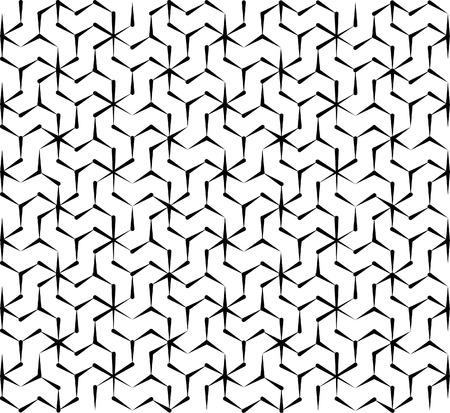nahtlose geometrische Muster in schwarz und weiß konischen Formen Illustration