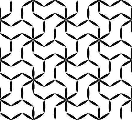 nahtlose geometrische Textur in Schwarz und Weiß Illustration