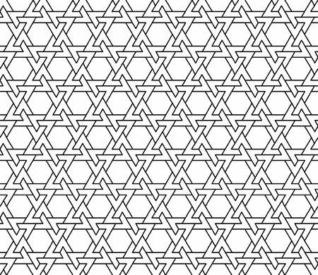 nahtlose geometrische Textur in Schwarz-Weiß-Vektor