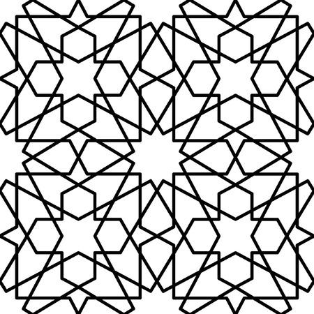 nahtlose geometrische Muster orientalisch