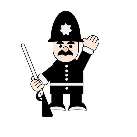 traditionellen Londoner Polizei Mann charachter